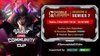 Live Streaming Vidio Community Cup Season 4 Mobile Legends Series 7 di Vidio. (Sumber : dok. vidio.com)
