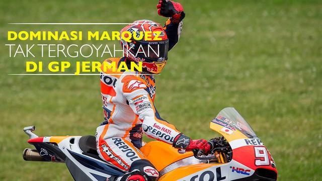 Pebalap Repsol Honda, Marc Marquez berhasil juara di MotoGP Jerman 2016 walaupun motornya sempat mengalami insiden di tikungan ke-8.