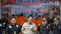 Kabid Humas Polda Metro Jaya, Kombes Pol Argo Yuwono memberikan keterangan pers dalam rilis kasus narkotika jaringan internasional di Jakarta, Kamis (13/6/2019). Petugas mengungkap tiga kasus penyelundupan narkotika jaringan internasional dengan barbuk 45 kg sabu. (Liputan6.com/Immanuel Antonius)