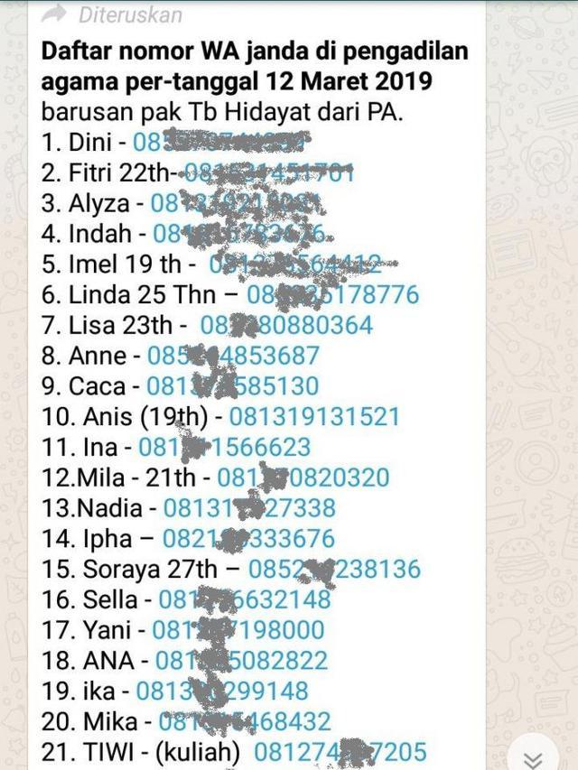 Heboh Puluhan Nomor Telepon Janda Muda Di Garut Tersebar Regional Liputan6 Com