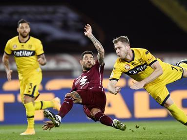 Perjuangan Parma untuk bertahan di Serie A berakhir sudah. Klub yang pernah berjaya di era 1990-an itu dipastikan menyusul Crotone turun kasta ke Serie B musim depan. (Fabio Ferrari/LaPresse via AP)