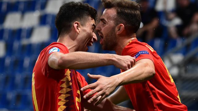 Timnas Spanyol lolos ke babak final Piala Eropa U-21 usai mengalahkan Prancis 4-1.