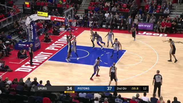 Berita video game recap NBA 2017-2018 antara Detroit Pistons melawan San Antonio Spurs dengan skor 93-79.