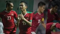 Hansamu Yama, Ricky Fajrin, Fachrudin dan Putu Gede. (Bola.com/Dody Iryawan)
