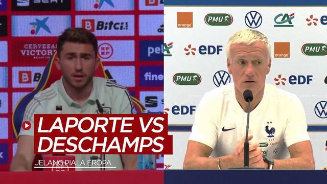 Berita video melihat apa yang terjadi antara Aymeric Laporte dengan Didier Deschamps jelang Piala Eropa.