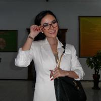 Cynthiara Alona saat berada di Pengadilan Negeri (PN) Tangerang, Banten, Selasa (5/5). (Ruswanto/Bintang.com)
