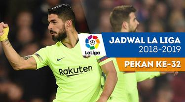 Berita video jadwal La Liga 2018-2019 pekan ke-32. Barcelona bertandang ke markas Huesca, Sabtu (13/4/2019).