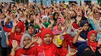 Para ibu menghadiri kegiatan edukasi dan sosialisasi gizi di Cirebon, Jawa Barat, Sabtu (25/1). (Istimewa)