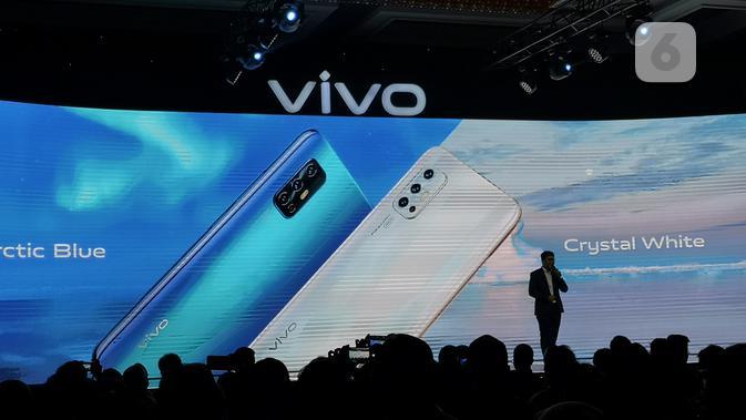 Senior Brand Director Vivo Indonesia, Edy Kusuma, saat peluncuran Vivo V19 di Jakarta, Selasa (10/3/2020). (Liputan6.com/ Agustinus Mario Damar)