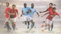 Premier League - Kolo dan Yaya Toure, Fabio dan Rafael da Silva, Gary dan Phil Neville (Bola.com/Adreanus Titus)