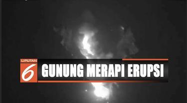 Gunung Merapi kembali semburkan awan panas sejauh 1,5 kilometer dari puncak gunung.