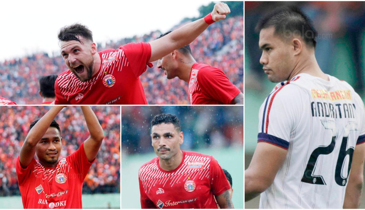 Berikut ini lima pemain kunci Persija yang akan menjadi momok bagi Bali United di partai final Piala Presiden 2018. Diantaranya, Marko Simic, Ramdani Lestaluhu dan Andritany Ardhiyasa. (Bola.com/M Iqbal Ichsan)