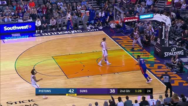 Berita video game recap NBA 2017-2018 antara Detroit Pistons melawan Phoenix Suns dengan skor 115-88.