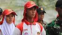 Babogi Ikalawang akan mencatat sejarah baru bagi Bengkulu jika Paskibraka ini terpilih masuk dalam kelompok 8 sebagai tim pengibar. (Foto: Liputan6.com/Aditya Eka Prawira)