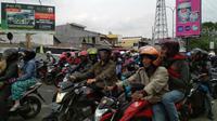 Suasana mudik Lebaran di Pantura Cirebon. Foto (Liputan6.com / Panji Prayitno)