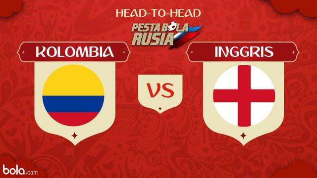 Berita video head-to-head Piala Dunia Rusia 2018: Kolombia vs Inggris.