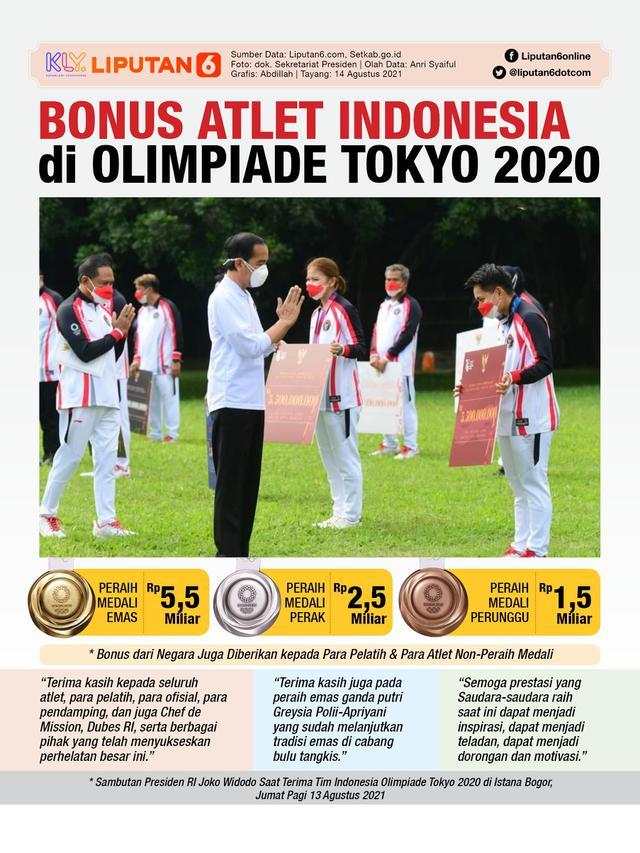Infografis Bonus Atlet Indonesia di Olimpiade Tokyo 2020. (Liputan6.com/Abdillah)