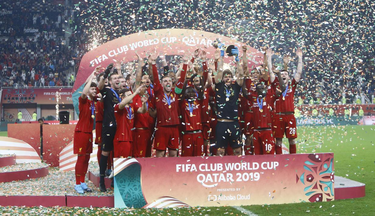 FOTO Liverpool Raih Juara Piala Dunia Antarklub 2019 Bola