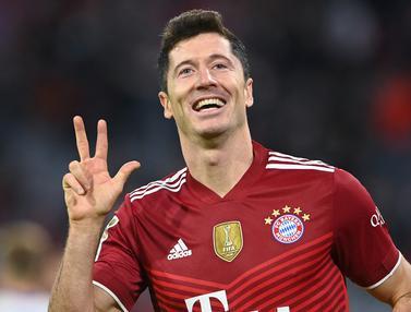 Foto: 5 Striker Tertajam di 5 Liga Top Eropa, Jalan Panjang Menuju Golden Shoes 2021 / 2022, Masih Milik Robert Lewandowski?