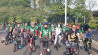 Kader Ansor Gowes keliling Jakarta untuk menambah imunitas tubuh lewat olahraga (istimewa)