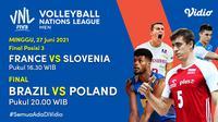 Link Live Streaming Grand Final Men's Volleyball Nations League di Vidio, Minggu 27 Juni. (Sumber : dok. vidio.com)