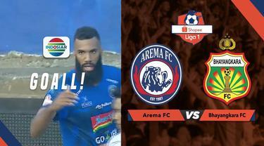 Berita Video Arema FC Perbesar Keunggulan Lewat Gol Comvalius di Akhir Babak 1
