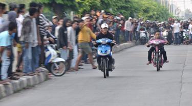 Petugad Kepolisian berhasil mengamankan aksi balap liar di Jakarta dan Lampung