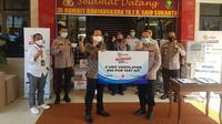 Bapak Imam Sudjarwo Selaku Ketua Umum YPP dan Direktur Utama Indosiar Secara Simbolis Menyerahkan PCR Test Kit dan Ventilator Kepada RS Bhayangkara TK. I R. Said Sukanto. (EMTEK)