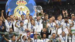 Real Madrid (13 kali juara) - Real Madrid adalah klub sepak bola yang paling banyak memenangkan kali Liga Champions sampai saat ini. Tahun juara: 1956, 1957, 1958, 1959, 1960, 1966, 1998, 2000, 2002, 2014, 2016, 2017, 2018. (AFP/Paul Ellis)