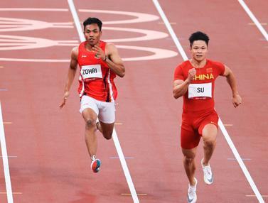 Foto: Lalu Muhammad Zohri Gagal Tembus Semifinal Olimpiade Tokyo 2020