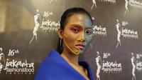 Makeup Benang Woll saat acara PAC Muaster Competition (dok.Liputan6.com/Devita Nur Azizah)