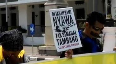 Aksi Solidaritas Untuk Aktivis Salim Kancil Terus Mengalir