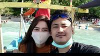 Aldha Refa mengenang kebaikan suami tercinta, pramugara korban Sriwijaya Air SJ182 (dok.instagram/@aldharefa/https://www.instagram.com/p/CEvYsz2Bqid/Komarudin)