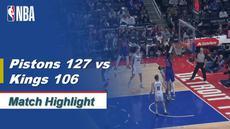 Berita Video Highlights NBA 2019-2020, Detroit Pistons Vs Sacramento Kings 127-106