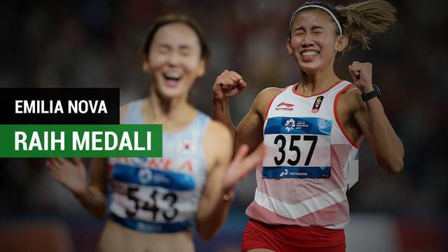 Berita video komentar atlet lari gawang Indonesia, Emilia Nova, setelah meraih medali perak di Asian Games 2018.