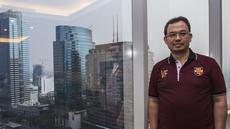 Predikat sebagai pengusaha muda dan sukses layak diberikan kepada calon Ketua Umum PSSI periode 2019-2023, Vijaya Fitriyasa. (Bola.com/Vitalis Yogi Trisna)