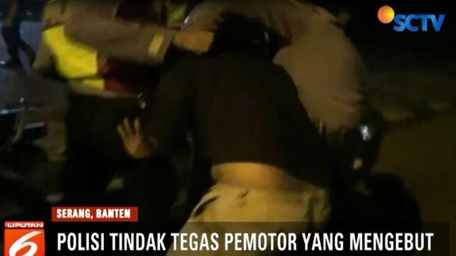Razia narkoba rutin digelar di Jalan Syekh Mohamad Nawawi Albantani, Kota Serang, Banten.