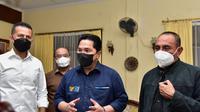 Menteri BUMN Erick Thohir bersama Gubernur Sumut dan Wakil Gubernur Sumut