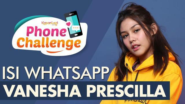 KAPANLAGI.COM - Vanesha Prescilla tak takut ketika diminta untuk melakukan Phone Challenge. Di segmen ini, selebritis kelahiran 25 Oktober 1999 itu membongkar isi handphone-nya, mulai dari recent call hingga foto terakhir yang ia ambil. Yakin nih KLo...