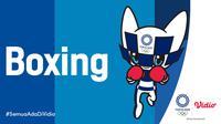 Banner Boxing Olimpiade Tokyo. (Foto: Vidio)