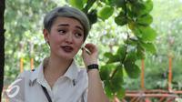 Zaskia Gotik saat menghadiri acara Ulang Tahun Julia Perez di kawasan Ancol, Jakarta, Jumat (15/7/2016). (Liputan6.com/Herman Zakharia)