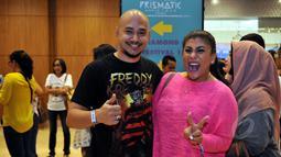 Husen & Regina Idol saat ditemui di Indonesia Convention Exhibition (ICE) untuk menonton konser Katy Perry, Tangsel (9/5/2015). (Liputan6.com/Panji Diksana)