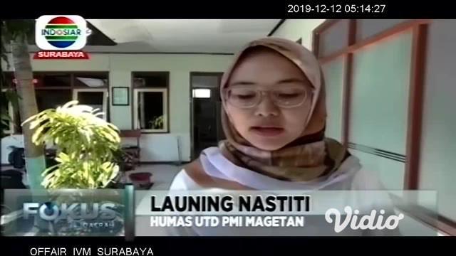 Stok darah di Unit Transfusi Darah Palang Merah Indonesia Kabupaten Magetan (UTD PMI Magetan), Jawa Timur, mulai menipis. Hal Ini terjadi karena permintaan darah meningkat.
