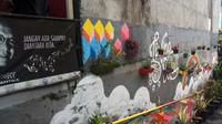 Selain terkenal dengan muralnya, Kampung Cibunut atau Kampung Warna-warni di Kota Bandung, juga merupakan kawasan sadar lingkungan. (Liputan6.com/Huyogo Simbolon)