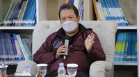 Menteri Kelautan dan Perikanan (KKP) Sakti Wahyu Trenggono di acara virtual Bincang Bahari Mengelola Sektor Kelautan dan Perikanan di Tengah Pandemi, Selasa (21/9/2021) (Foto: Keterangan Pers)