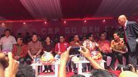 Sejumlah tokoh menghadiri Karvanal Cap Go Meh 2018 di Glodok, Jakarta (Liputan6.com/ Yunizafira Putri)