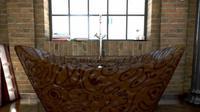 Set bak mandi ini terbuat dari cokelat murni 100%. Tertarik mencobanya?