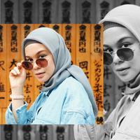 Inspirasi mau tampil kece pakai hijab nggak perlu ribet. (Sumber foto: tantrinamirah/instagram)