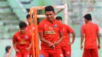 Arema FC bersiap untuk Piala Wali Kota Solo 2021. (Bola.com/Iwan Setiawan)