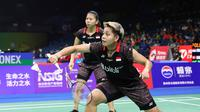 Greysia Polii/Apriyani Rahayu melaju ke 16 besar Kejuaraan Dunia 2018 setelah dengan mudah membungkam pasangan Hong Kong, Ng Wing Yung/Yuen Sin Ying, Rabu (1/8/2018). (PBSI)